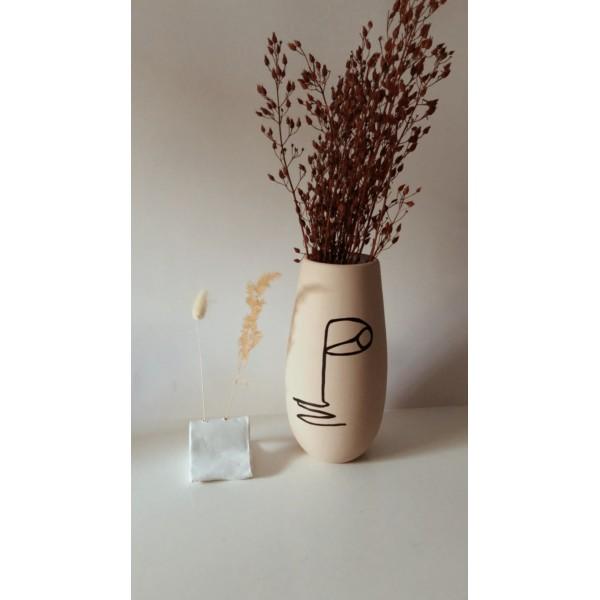 Bej Face Vazo
