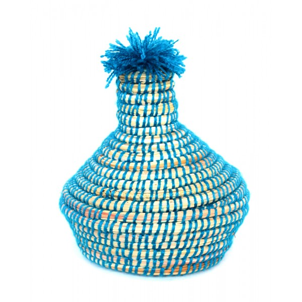 Turkuaz Mavi African Mini Basket